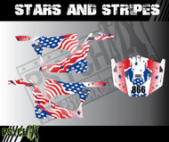 UTV Side by Side Graphics | Stars and Stripes Design