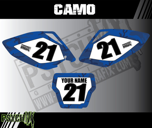 Dirt Bike Number Plates, CAMO design