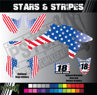 ATV Full Graphics Kit | Stars & Stripes