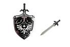 Dark Hylian Shield from the Legend of Zelda Necklace