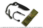 "6.5"" Fixed Blade Tactical Knife with Fire Starter"
