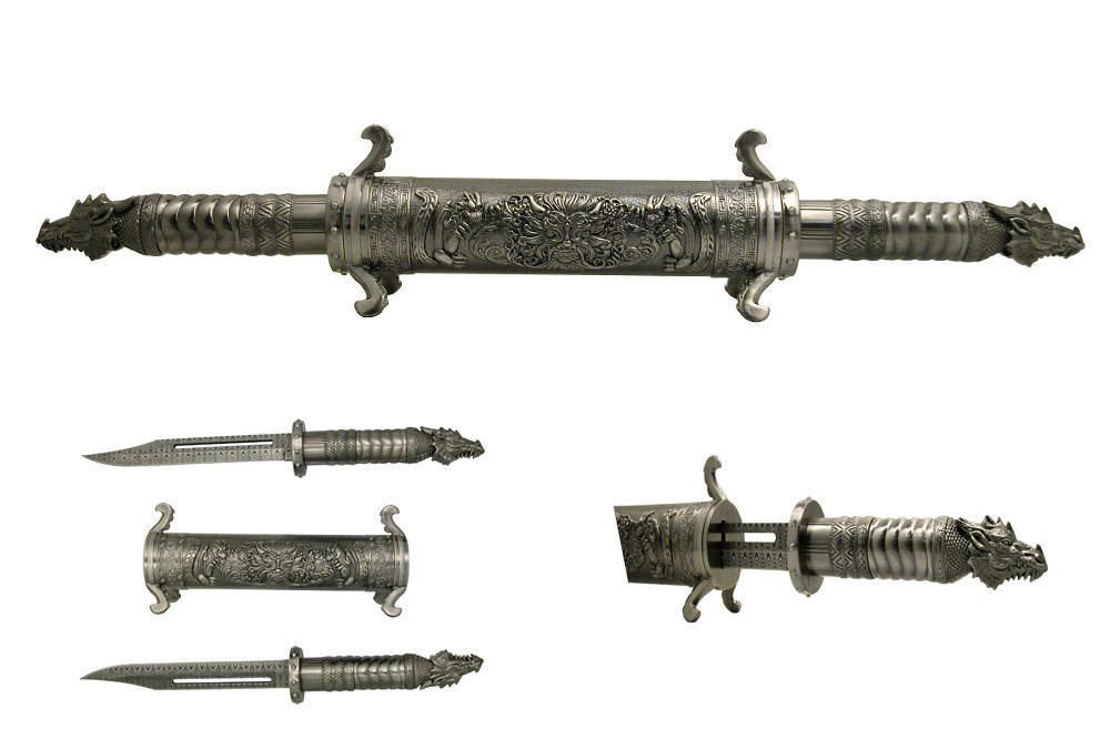 Metallic_Twin_Dragon_Scroll_Daggers_Silver_Swords_Damascus_Laser_Etched_Bladed__91590.1350772630.1000.675.JPG
