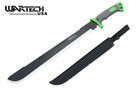 "25"" Full Tang Combat Machete Saw Blade and Rubber Handle With Sheath"