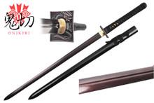 Onikiri Full Tang Folded Steel Japanese Ninja Katana Sword with Dragon Tsuba