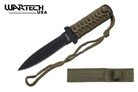 "7"" TACTICAL COMBAT FIXED BLADE MILITARY STILETTO KNIFE Survival Hunting Throwing"