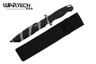 """14"""" Camo Black Hunting Tactical Survival Knife with Sheath - Tanto"""