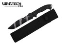 "12"" Camo Black Hunting Tactical Survival Knife with Sheath - Drop Point"