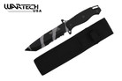 "12"" Camo Black Hunting Tactical Survival Knife with Sheath - ABS Handle Tanto Point"