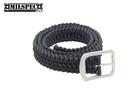"""Paracord Belt - Length: 52"""" - Double Weave - Black"""