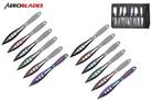 """6.5"""" 12 Pcs Set Two Tones Blade Throwing Knife ASTD"""