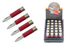 24 Pcs Red color Shot Gun Bullet Display Knife