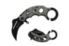 "6"" Assisted Open Karambit Knife with Grey Handle Key Ring"