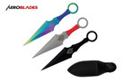"6.5"" 3Pc Set Mix Color Kunai Throwing Knife"
