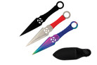 "6.5"" 3Pc Set MixColor Kunai Throwing Knife"