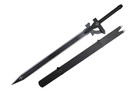 Kirigaya Kazuto kirito Black - Elucidator Medium Carbon Steel Sword with Sheath