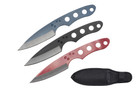 "6.5"" 3 Pcs Set Bear Claw Throwing Knife with BL BK RD Color"