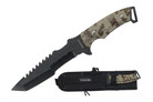 "12"" Tatical Hunting Tactical Knfie with Black Blade and Camo Handle"