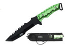"Biohazard Zombie Survival Gear ""Equalizer"" Fixed Blade - Green"