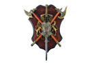 "17.5"" x 13"" Lion Double Axe with Sword and Shield Set Wall Display"