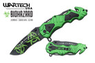 Wartech Biohazard Zombie Survival Knife with Belt Cutter and Clip - YCS7006Z
