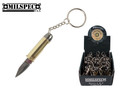 Bullet Handle Folding Pocket Knife Stainless Steel Blade with Key Chain Gold - 12 PCS SET