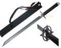 Full Tang Black Machete Ninja Shinobi Sword Back Sheath