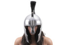 King Leonidas 300 Greek Spartan Trojan Warrior Helmet - Silver