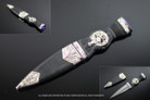 "7.25"" Sgain-dubh Dirk Dagger with Scabbard Blue Stone Look"