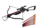 150LB Hunting Rifle Crossbow Draw Weight Recurve Aluminum Stock + 7 Bolts/Arrows