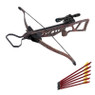 180 lb Camouflage Hunting Crossbow Bow +4x20 Scope + 7 Arrows / Bolts 150 80 50
