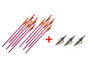 "10 PC 20"" Aluminum Crossbow Arrows 21"" Long Metal Shaft + 3 Blades Broadhead"