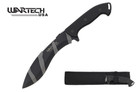 "14"" Hunting Knife with Rubber Handle and Sheath - Digital Camo"