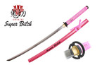 "Onikiri ""Super Bitch"" Katana Sword with Musashi Tsuba - Pink"
