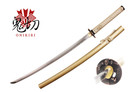 Onikiri Full Tang Nobunaga Katana Sword with Golden Scabbard