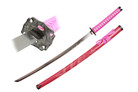 Pink Katana Sword with Dragon Engraved Scabbard