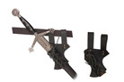 Medieval Sword Frog Belt Hook Hanger For SCA and LARP - Black Color