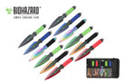 12 Pcs Biohazard Zombie Killer Throwing Knife Set Multi Colors with Sheath 9 inches Thrower - A717712ASTD