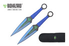 2 Pcs Biohazard Zombie Killer Throwing Knife Set with Sheath 9 inches Thrower - A74772BL