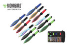 12 Pcs Biohazard Zombie Killer Throwing Knife Set Multi Colors with Sheath 9 inches Thrower - A737712ASTD