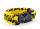 330 Paracord Survival Bracelet Black and Yellow Camo Stryper Cobra Weave