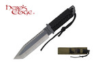 "11"" Two Tone Tactical Hunting Knife with Fire Starter and Sheath"