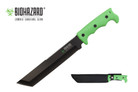 "14"" Biohazard Zombie ""Devil's Harvest"" Hunting Knife with Serrated Blade and Green Handle"
