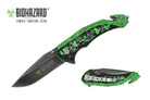 "8"" Biohazard Zombie Spring Assisted Folding Knife - YCS9047BK"