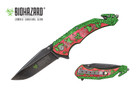 "8"" Biohazard Zombie Spring Assisted Folding Knife - YCS9047RD"