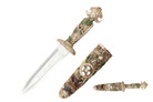 "16"" Poly Resin Fantasy Skull King Dagger with Scabbard"