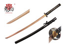 Onikiri Full Tang Rose Gold Blade Japanese Katana Sword with Warrior Tsuba