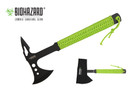 "13.5"" Zombie Axe 4mm Blade With Neon Cord Wrapped and Nylon Sheath"