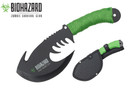 "11"" Zombie BIOHAZARD Throwing Axe Tactical Hunting Hatchet Survival Knife"
