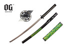 "41"" Samurai Katana Sword Black Scabbard With Marijuana Leaf"