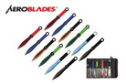 """9"""" 12 Pcs Set Assorted Color Throwing Knife with 2 Tone Blade Thrower"""